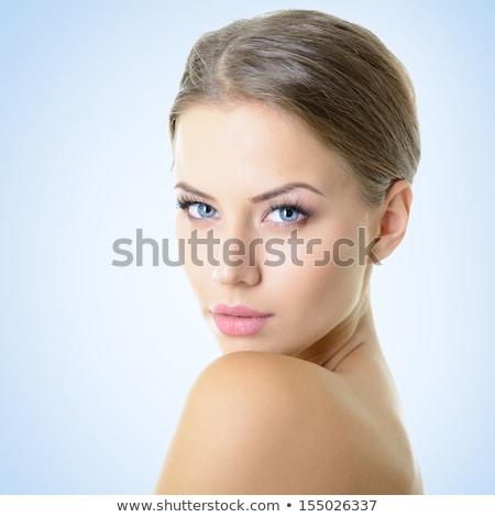 çekici · sarışın · kız · moda · model - stok fotoğraf © fotoduki