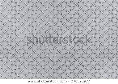 Superficie de metal diamantes patrón industrial metálico Foto stock © stevanovicigor