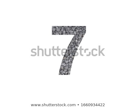 Font made of rocks NUMBER seven 7 3D Stock photo © djmilic