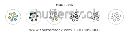 manufacture sign and tools link network Stock photo © alexmillos