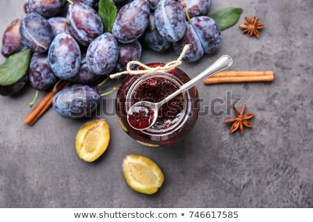 jar of plum jam Stock photo © Digifoodstock