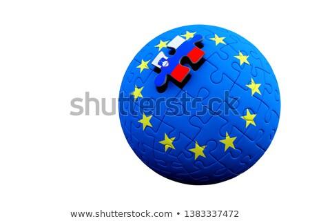 Foto stock: Salida · europeo · Unión · referéndum · vector · aislado