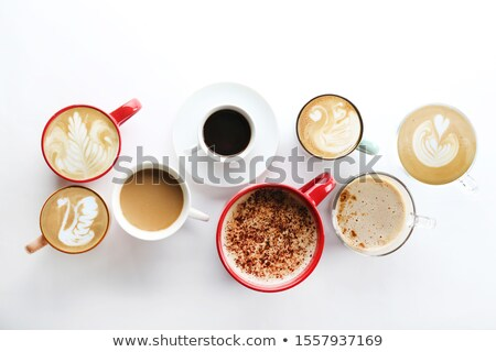 Cafe and different kinds of food and drinks Stock photo © bluering