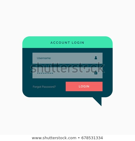 login template design in chat bubble style with flat colors Stock photo © SArts