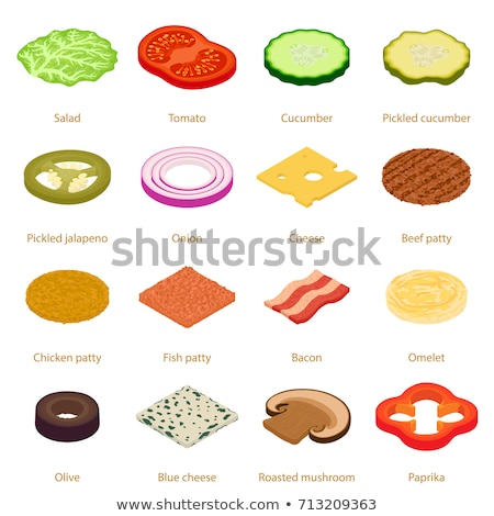 Isometric ingredients for burgers and sandwiches.  Stock photo © curiosity
