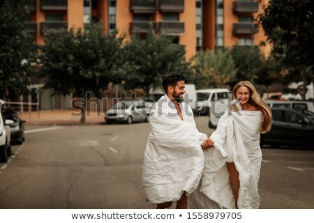 Couple undress in the city stock photo © tekso