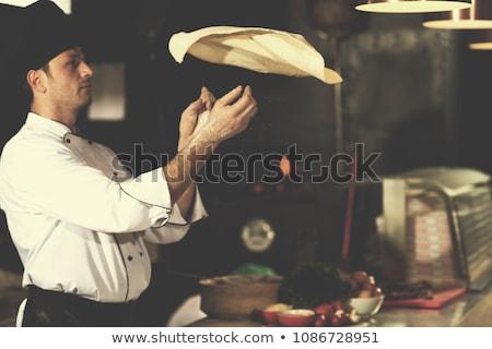 Chef With Pizza Сток-фото © dotshock