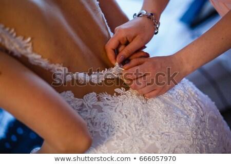 łuk · suknia · ślubna · druhna · oblubienicy · ślub · dzień - zdjęcia stock © tekso