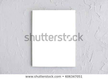 magazin · borító · vázlat · mintázott · beton · fehér - stock fotó © manera