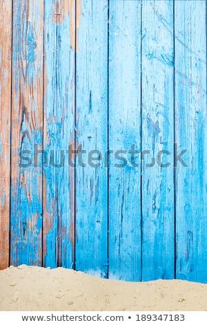 Wooden beach huts on sand Stock photo © wavebreak_media