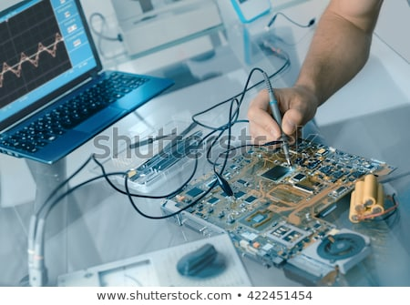 Elettronica computer processore blu tifosi Foto d'archivio © OleksandrO
