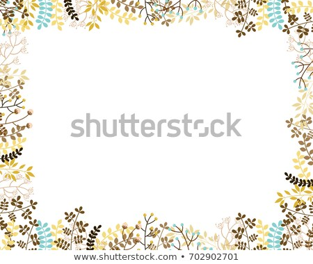 Autumn vector floral border in muted colors stock photo © Pravokrugulnik