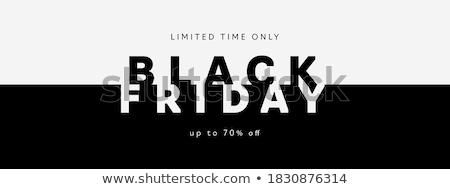 black · friday · vásár · logo · átlátszó · árengedmény · matrica - stock fotó © romvo