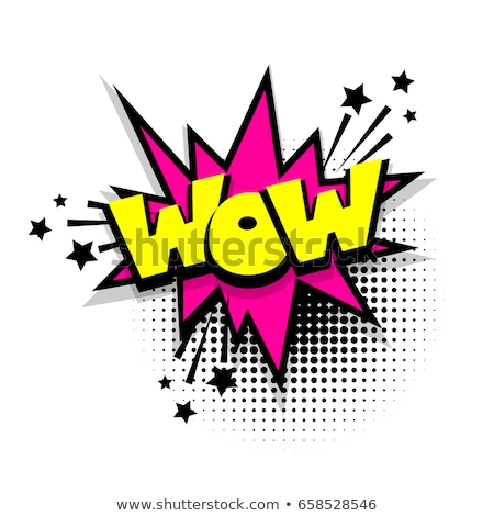 comic text sound effect illustration in pop style art Stock photo © SArts