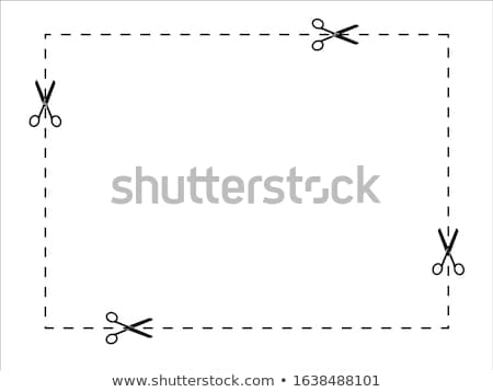 ножницы квадратный шаблон знак символ Cut Сток-фото © popaukropa
