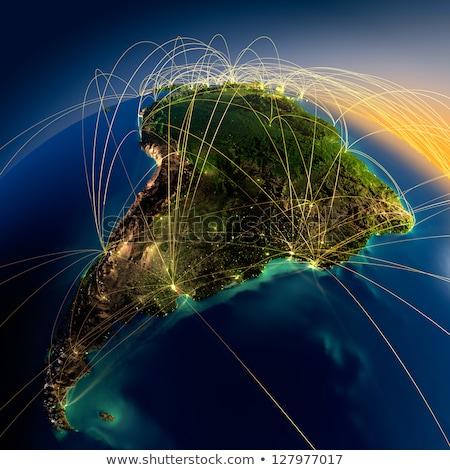 Ameryki real góry ulga elementy obraz Zdjęcia stock © ixstudio