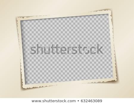 Oude foto frame doorzichtigheid tonen schaduw business Stockfoto © opicobello