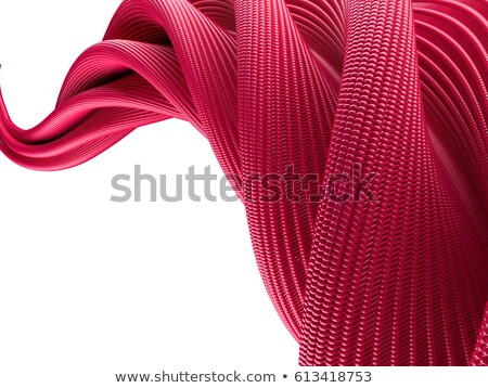 abstract swirly atomic shape on black background 3d stock photo © user_11870380