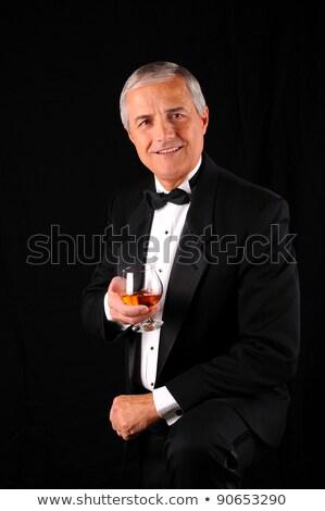 Idősebb férfi mosolyog üzlet divat üzletember Stock fotó © IS2