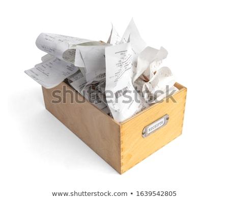 costs concept on file label stock photo © tashatuvango