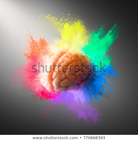 abstract artistic creative rainbow explode Stock photo © pathakdesigner