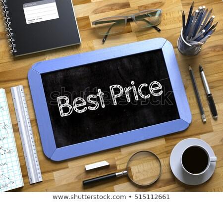 Legjobb ár kézzel írott kicsi tábla 3D üzlet Stock fotó © tashatuvango