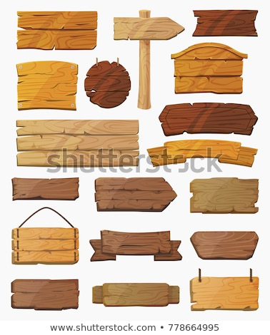 set of wooden sign vector Stock photo © sommersby