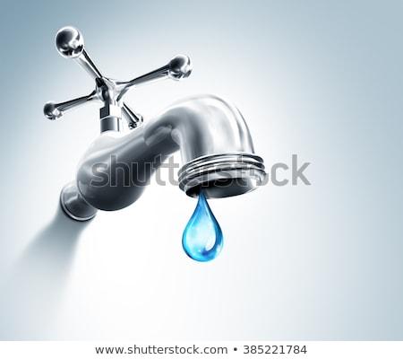 タップ · 実例 · 給水栓 · 水滴 · 孤立した · 白 - ストックフォト © andreypopov