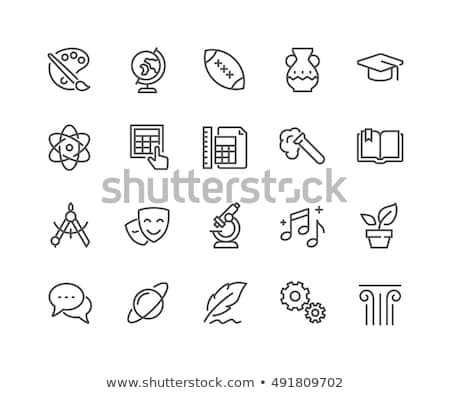 Math Line Icons Set Stock photo © Voysla