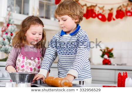 four kids baking cookies Stock photo © IS2