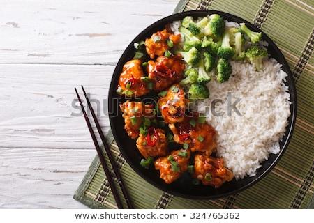 Kínai étel mártás étel Ázsia ebéd étel Stock fotó © M-studio