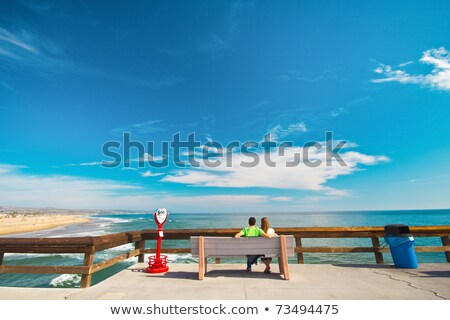 paar · buitenshuis · verrekijker · glimlachend · vrouw · gelukkig - stockfoto © is2