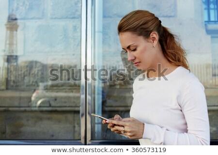 Lány telefon pda autó divat technológia Stock fotó © IS2