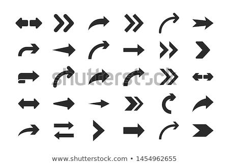 Kreis Form Web Piktogramm Schnittstelle Stock foto © studioworkstock