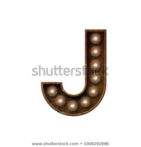 Brief 3D broadway stijl hoog kwaliteit Stockfoto © creisinger