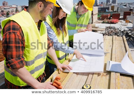 engineer and architect having meeting stock photo © is2