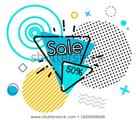 -50% off price sticker in triangle style Stock photo © studioworkstock