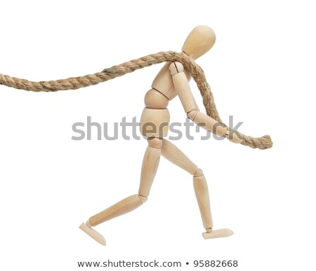 木製 小さな像 ロープ 白 おもちゃ ストックフォト © wavebreak_media