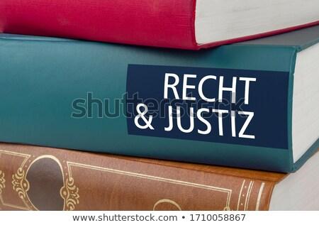 Libro título ley justicia escrito espina Foto stock © Zerbor