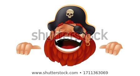Cartoon Pirate Skull Cartoon Stock photo © Krisdog