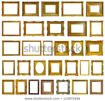 Stock photo: Old Golden Frame Cutout