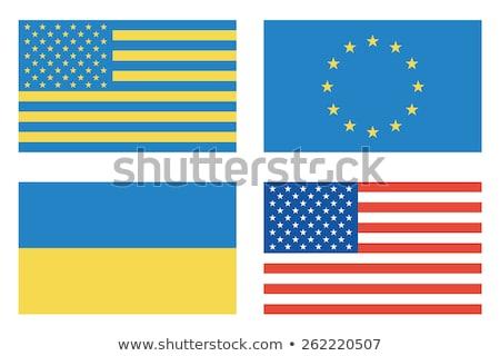 Vlaggen landen USA Oekraïne europese unie Stockfoto © FoxysGraphic