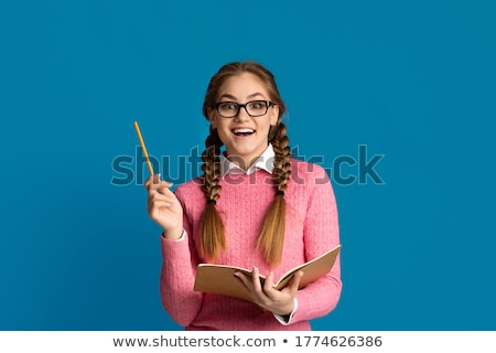 Portrait of girl with pigtails Stock photo © IS2