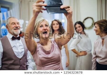 Familia boda fiesta madre padre abuela Foto stock © IS2