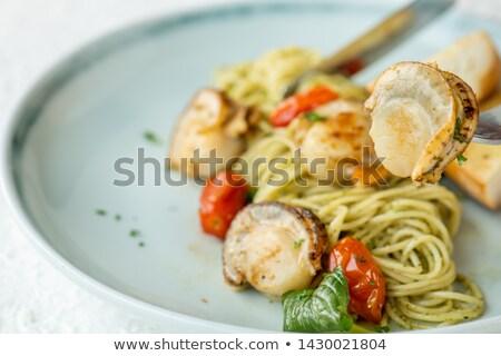 スパゲティ パセリ ペスト トマト チーズ ストックフォト © glorcza