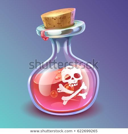 skull bottle of poison potion isolated vector illustration stock photo © popaukropa