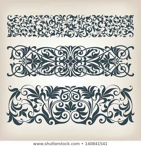 heraldiek · vector · ontwerp · communie · silhouet - stockfoto © krisdog