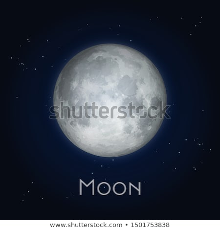 illustration of telescope in the moonlight Stock photo © adrenalina