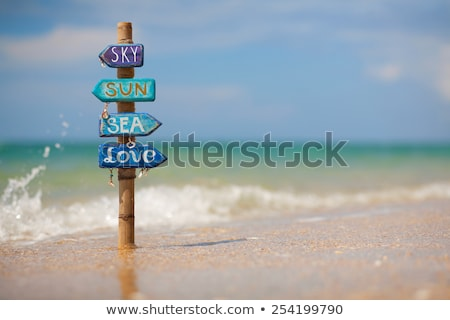 Wooden Sign that Points Direction Made of Wood Stock photo © robuart