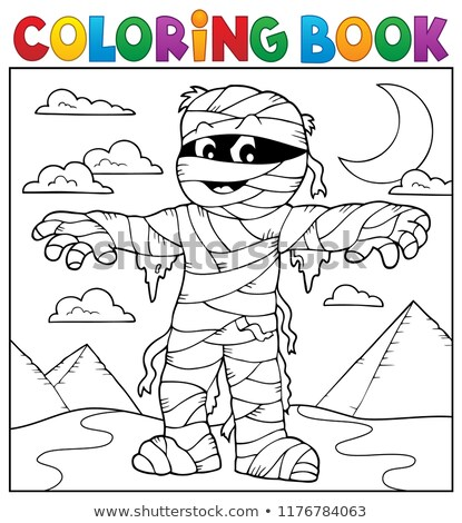 Coloring book mummy theme 2 Stock photo © clairev